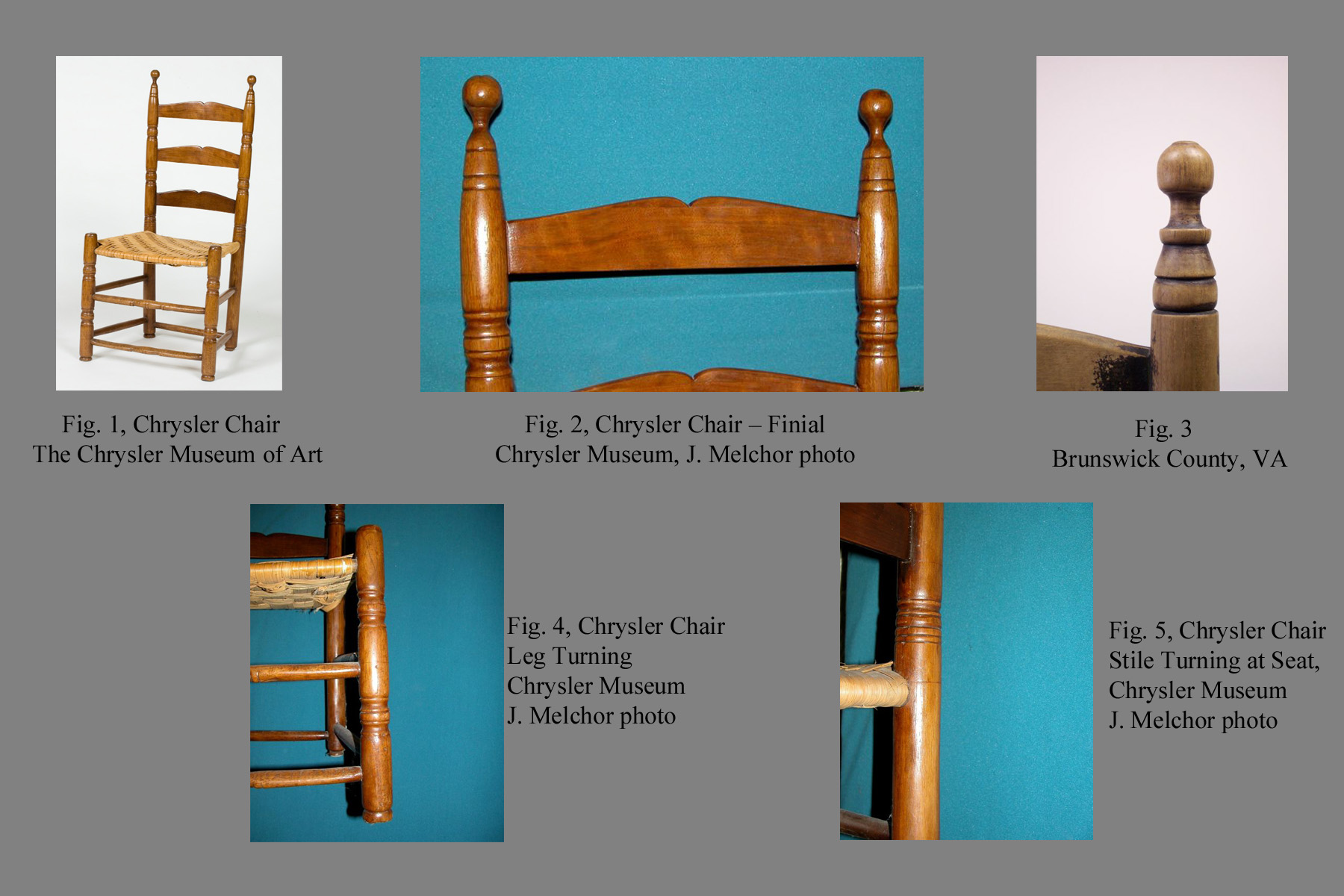 Early Turned Chairs The Meherrin Cleft Slat Group