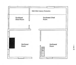 Figure 7, Existing first floor plan