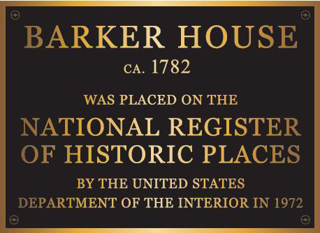 U. S. Department of Interior designation plaque
