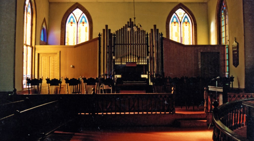 Organ & choir loft of Kadesh Church
