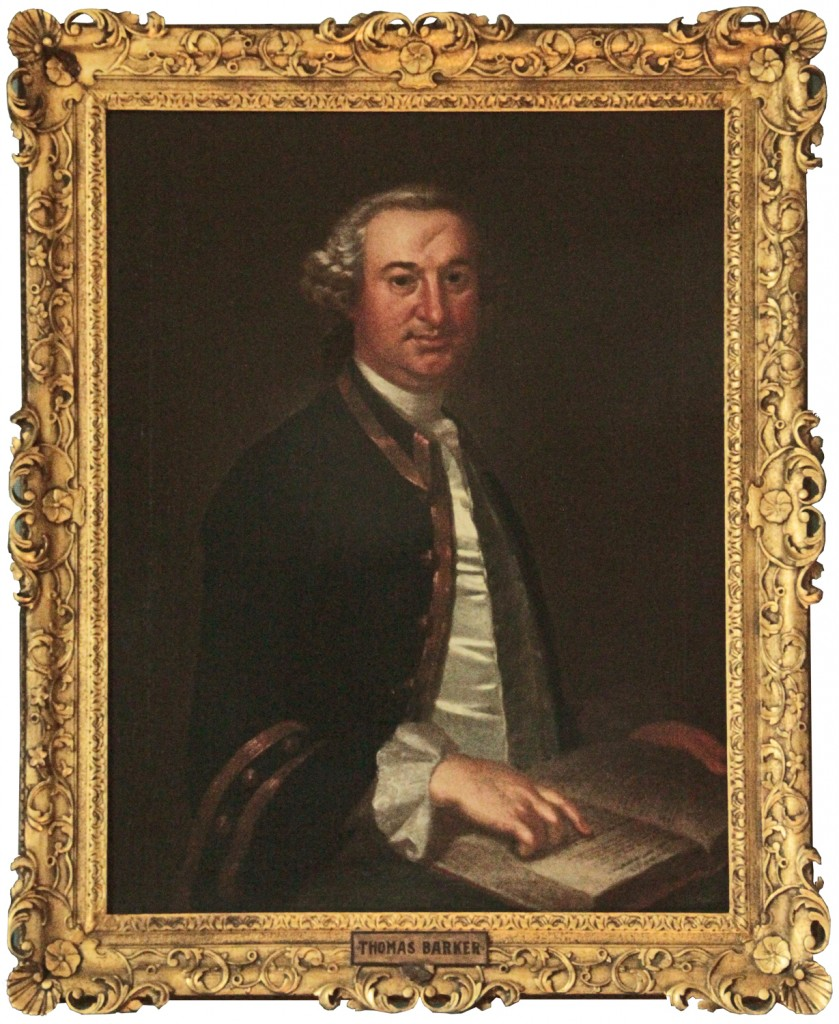 Thomas Barker portrait showing forehead indentation from accident with a horse - photo William Ahearn