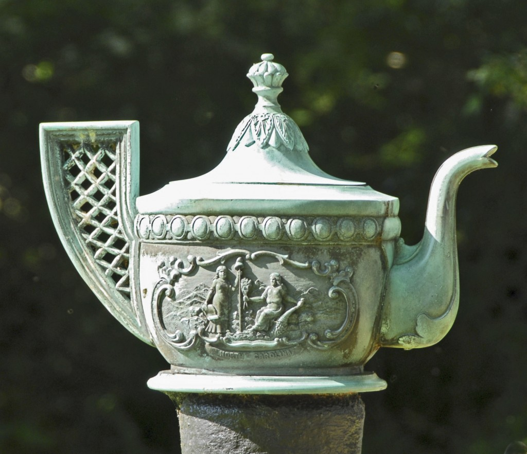 Bronze teapot - front side
